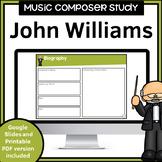 Music Composer Worksheets | John Williams