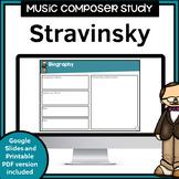 Music Composer Worksheets   Stravinsky