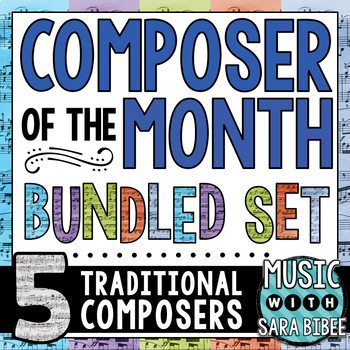 Music Composer of the Month- Bundle #1- Traditional Composers
