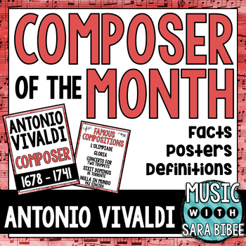 Music Composer of the Month: Antonio Vivaldi Bulletin Board Pack
