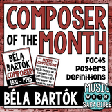 Music Composer of the Month: Béla Bartók Bulletin Board Pack