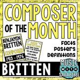 Music Composer of the Month: Benjamin Britten Bulletin Board Pack