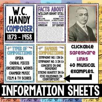 Music Composer of the Month: Bundle - African American Composers