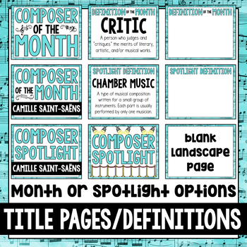 Music Composer of the Month: Camille Saint-Saëns Bulletin Board Pack