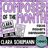 Music Composer of the Month: Clara Schumann Bulletin Board Pack