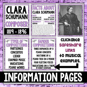 Music Composer of the Month: Clara Schumann Bulletin Board Pack