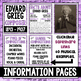 Music Composer of the Month: Edvard Grieg Bulletin Board Pack