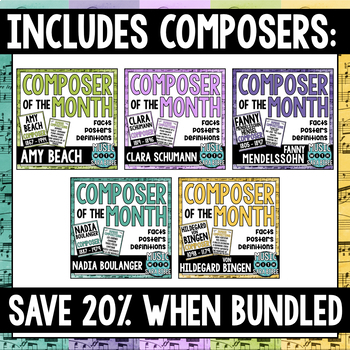 Music Composer of the Month- Famous Female Composers Bundle