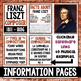 Music Composer of the Month: Franz Liszt Bulletin Board Pack