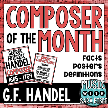 Music Composer of the Month: George Frideric Handel Bulletin Board Pack
