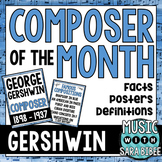 Music Composer of the Month: George Gershwin Bulletin Board Pack