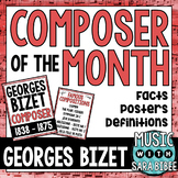 Music Composer of the Month: Georges Bizet Bulletin Board Pack