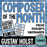 Music Composer of the Month: Gustav Holst Bulletin Board Pack