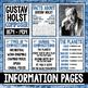 Music Composer of the Month: Gustav Holst Bulletin Board Pack