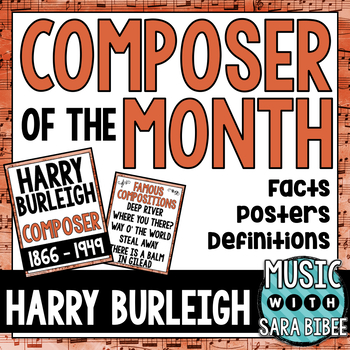 Music Composer of the Month: Harry Burleigh Bulletin Board Pack