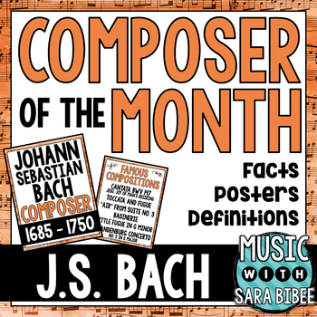 Music Composer of the Month: Johann Sebastian Bach- Bulletin Board Pack
