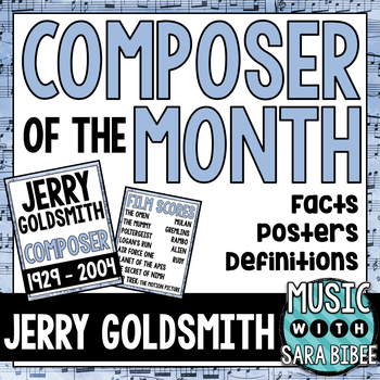Music Composer of the Month: Jerry Goldsmith Bulletin Board Pack