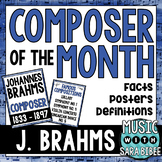 Music Composer of the Month: Johannes Brahms Bulletin Board Pack
