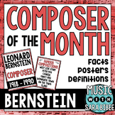 Music Composer of the Month: Leonard Bernstein Bulletin Board Pack