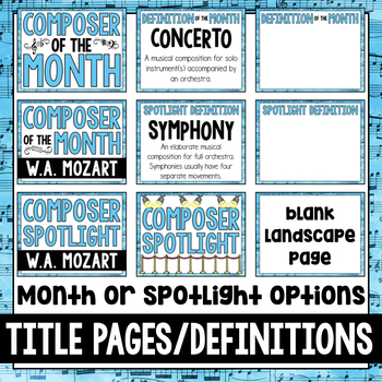 Music Composer of the Month: Mozart Bulletin Board Pack