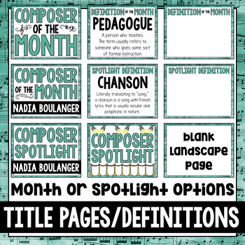 Music Composer of the Month: Nadia Boulanger- Bulletin Board Pack