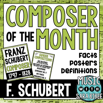 Music Composer of the Month: Franz Schubert Bulletin Board Pack