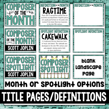 Music Composer of the Month: Scott Joplin Bulletin Board Pack