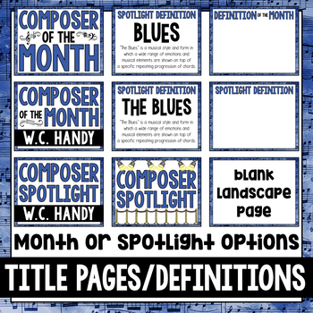 Music Composer of the Month: W.C. Handy Bulletin Board Pack