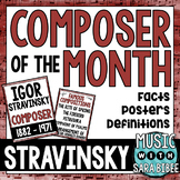 Music Composer of the Month: Igor Stravinsky Bulletin Board Pack