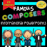 Great Composers (Informational Music PowerPoints on Famous Composers)
