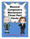 Music Composers Montessori Three Part Vocabulary Cards - color clip art