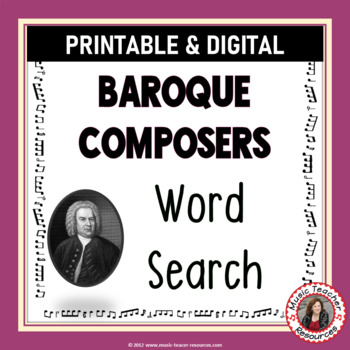 Composers of the Baroque Era Word Search