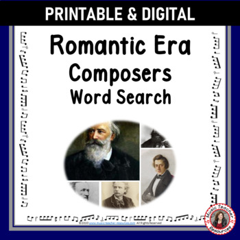 Composers of the Romantic Era Word Search
