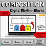 Music Composition Distance Learning Activities for Google Slides, Set 1