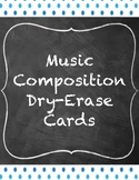 Music Composition Dry-Erase Cards- Blue Dots