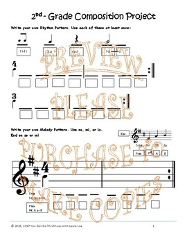 Music Composition Projects for Kindergarten, First, and Second Grades