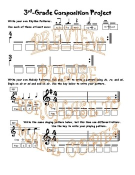 Music Composition Projects for Third and Fourth Grades