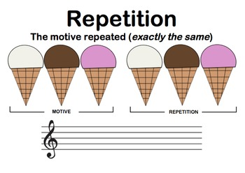 Music Composition Techniques Worksheets - Ice Cream Theme