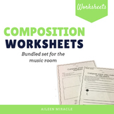 Music Composition Worksheets {Bundle}