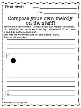 Music Composition Worksheets {Bundle}
