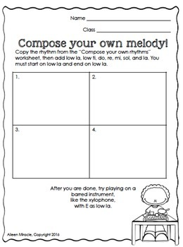 Music Composition Worksheets {Fifth Grade}