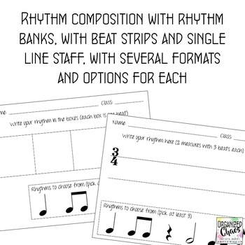 Music Composition Worksheets Growing Bundle