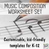 Music Composition Worksheets Growing Bundle