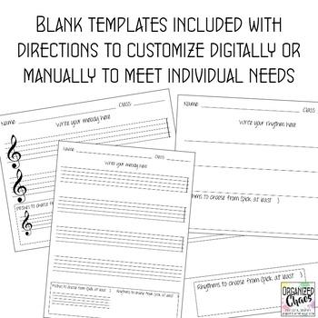 Music Composition Worksheet Set