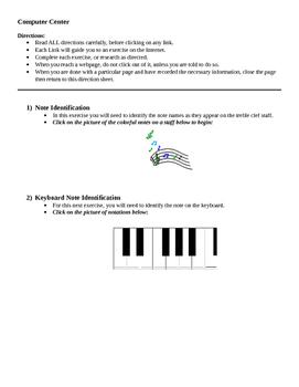 Music Computer Center Activity