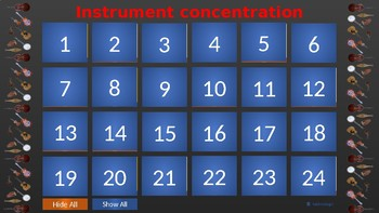 Music Concentration (Memory Match)