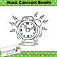 Music Concepts High/Low, Soft/Loud, Fast/Slow Clip art