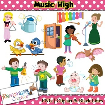Music Concepts: High sounds Clip art by RamonaM Graphics | TpT