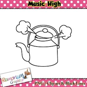 Music Concepts: High sounds Clip art