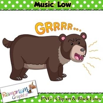 Music Concepts: Low sounds Clip art